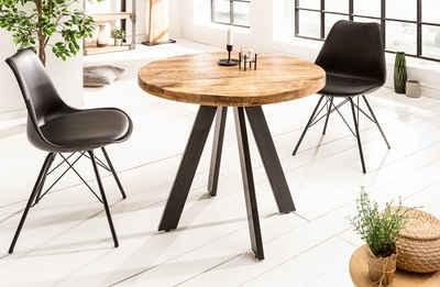 riess-ambiente Esstisch »IRON CRAFT 80cm natur«, Massivholz · rund · Küchentisch · Mangoholz