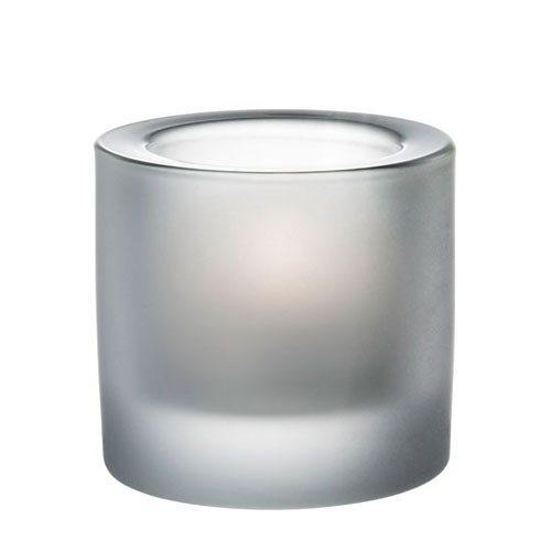 IITTALA Iittala Teelichthalter KIVI sandgestrahlt 6cm in sandgestrahlt