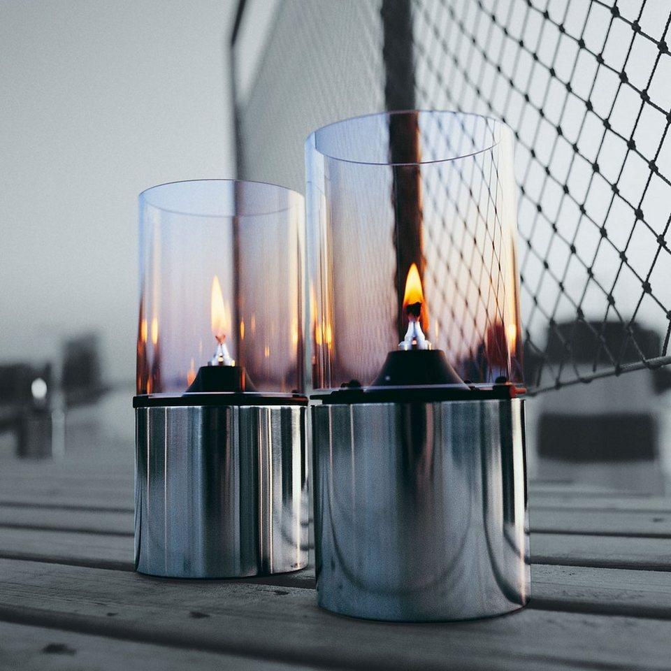 STELTON Stelton Öllampe mit Glasschirm klar in satin-poliert, klar