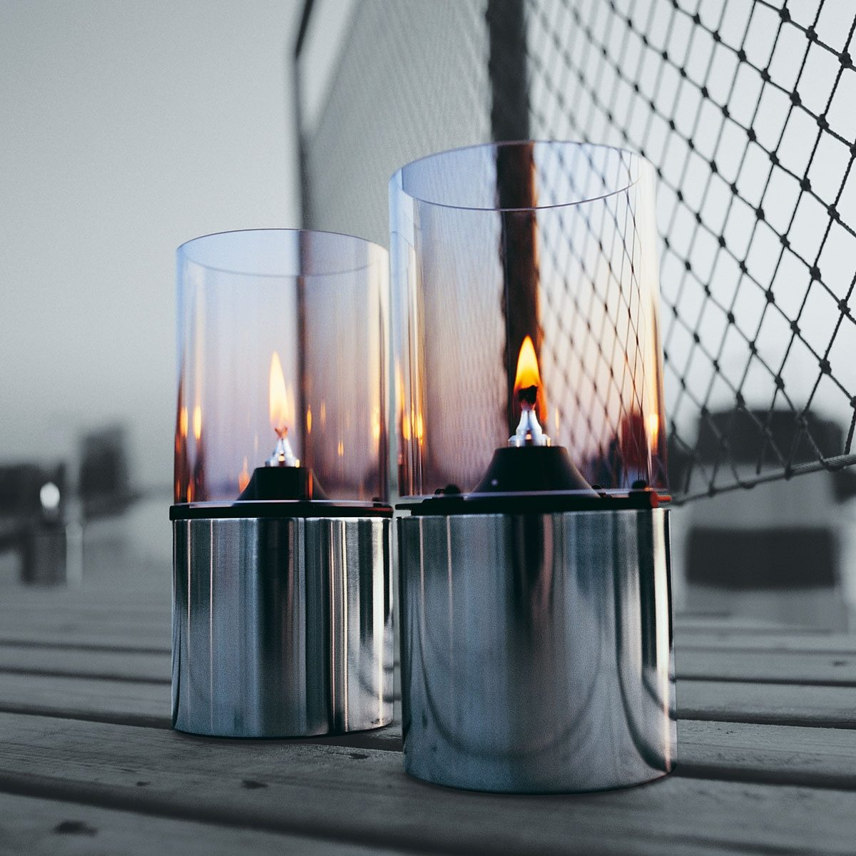 Stelton Stelton Öllampe mit Glasschirm klar