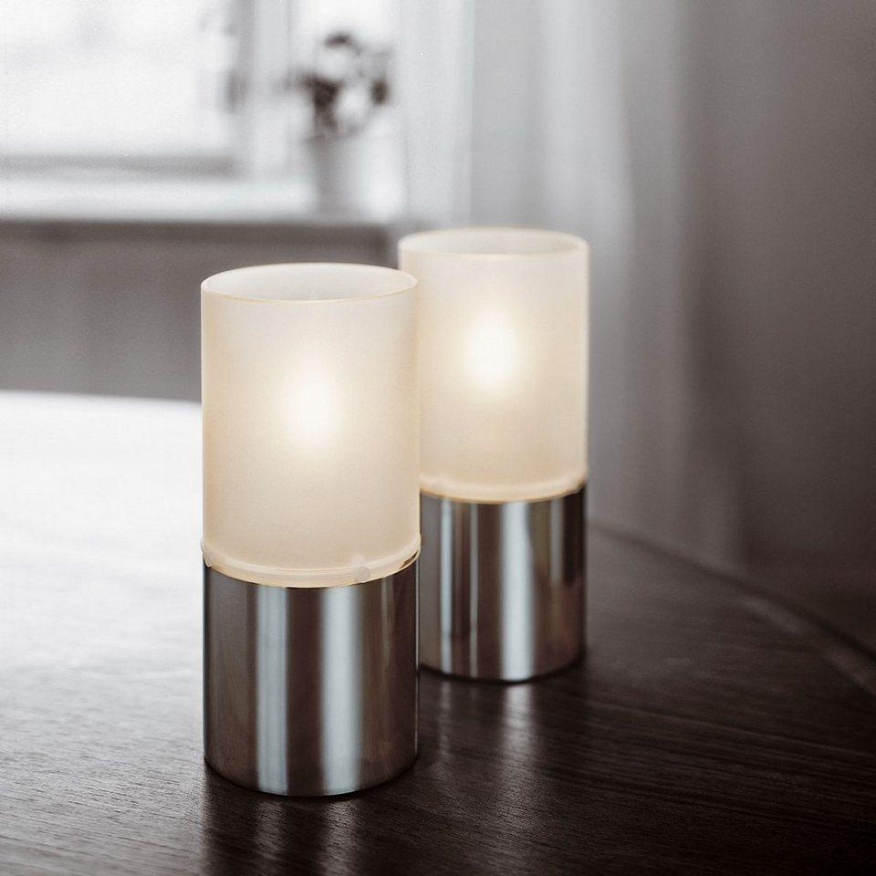 Stelton Stelton Öllampe mit Glasschirm satiniert in satin-poliert, satin