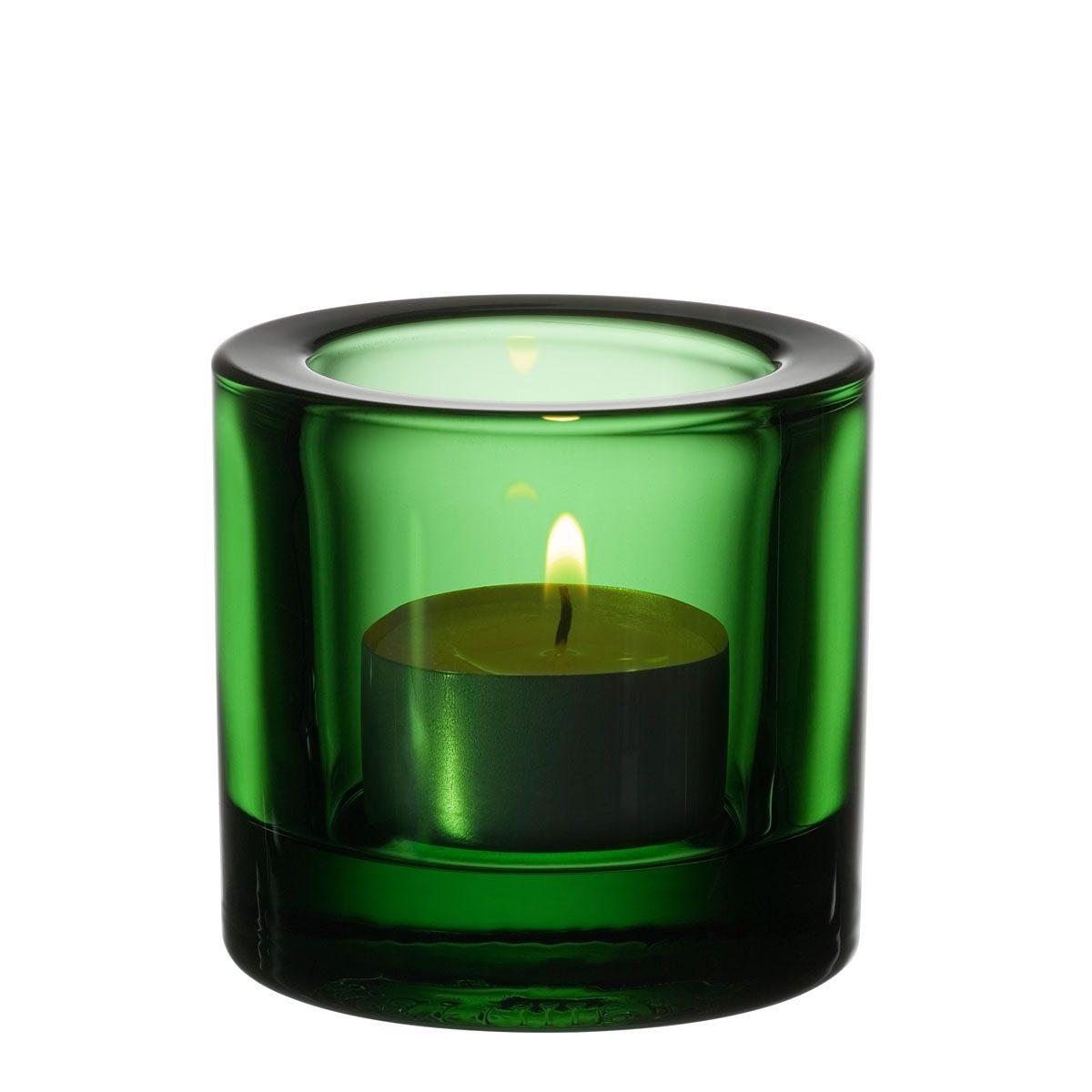 IITTALA Iittala Teelichthalter KIVI grün 6 cm