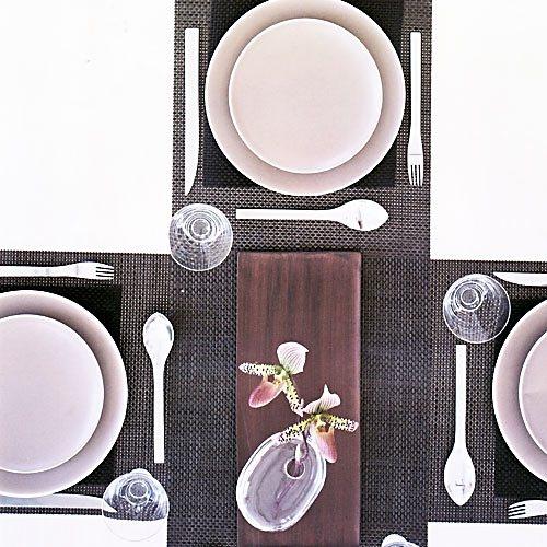 CHILEWICH Chilewich Tischset BASKETWEAVE schwarz - 2er Set in schwarz