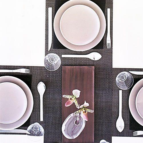 CHILEWICH Chilewich Tischset BASKETWEAVE schwarz - 2er Set