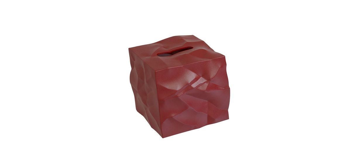 KLEIN UND MORE Klein und More Papiertücher-Box WIPY-CUBE rot