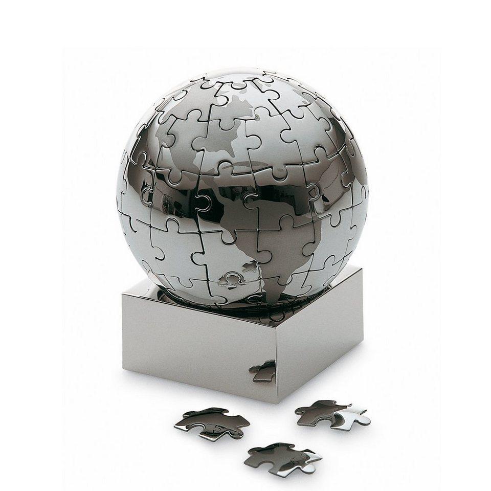 Philippi Philippi Puzzle Globus EXTRAVAGANZA 7.5 cm in silber