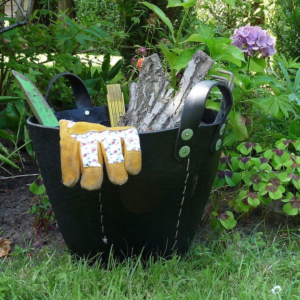 GIVING UND LIVING Giving und Living Gartenkorb DACARR in schwarz