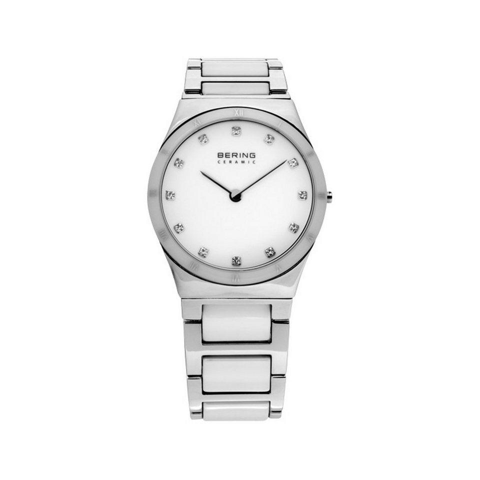 Bering Bering 32230-764 Damenuhr CERAMIC silber, weiß in weiß, silber glänzen