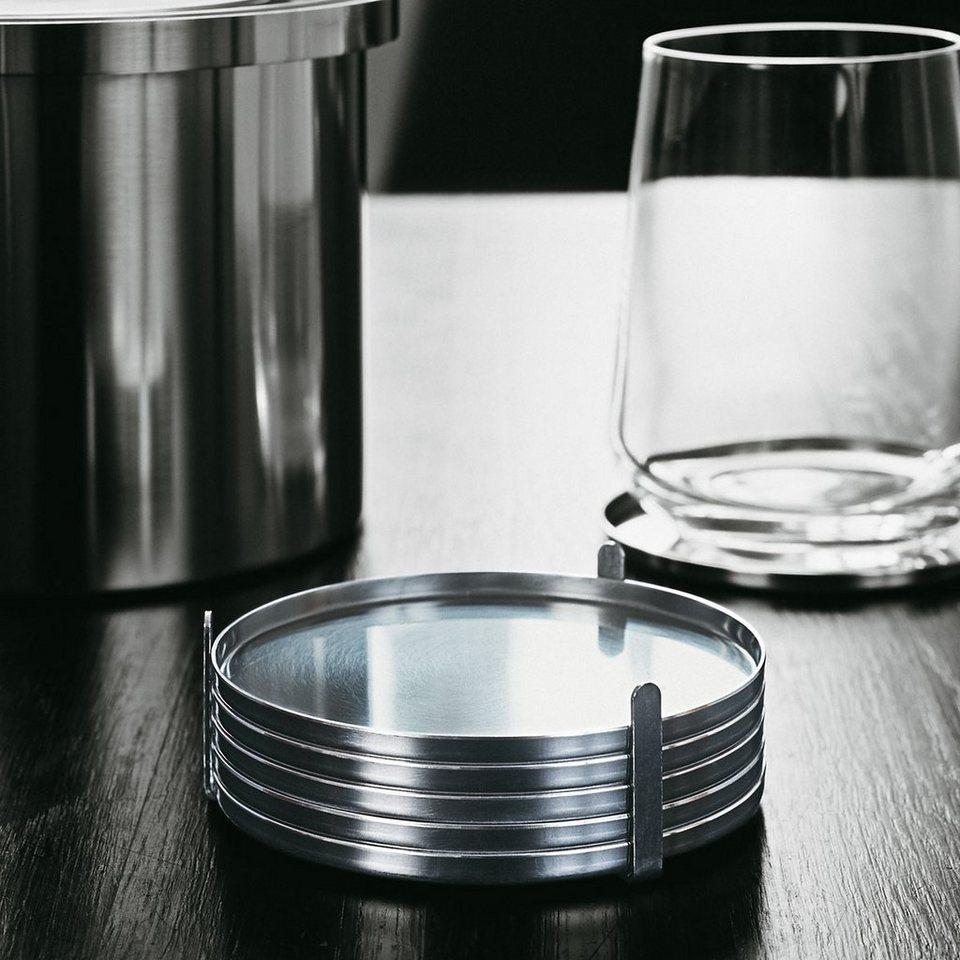 STELTON Stelton Glasuntersetzer - 6er Set in satin-poliert