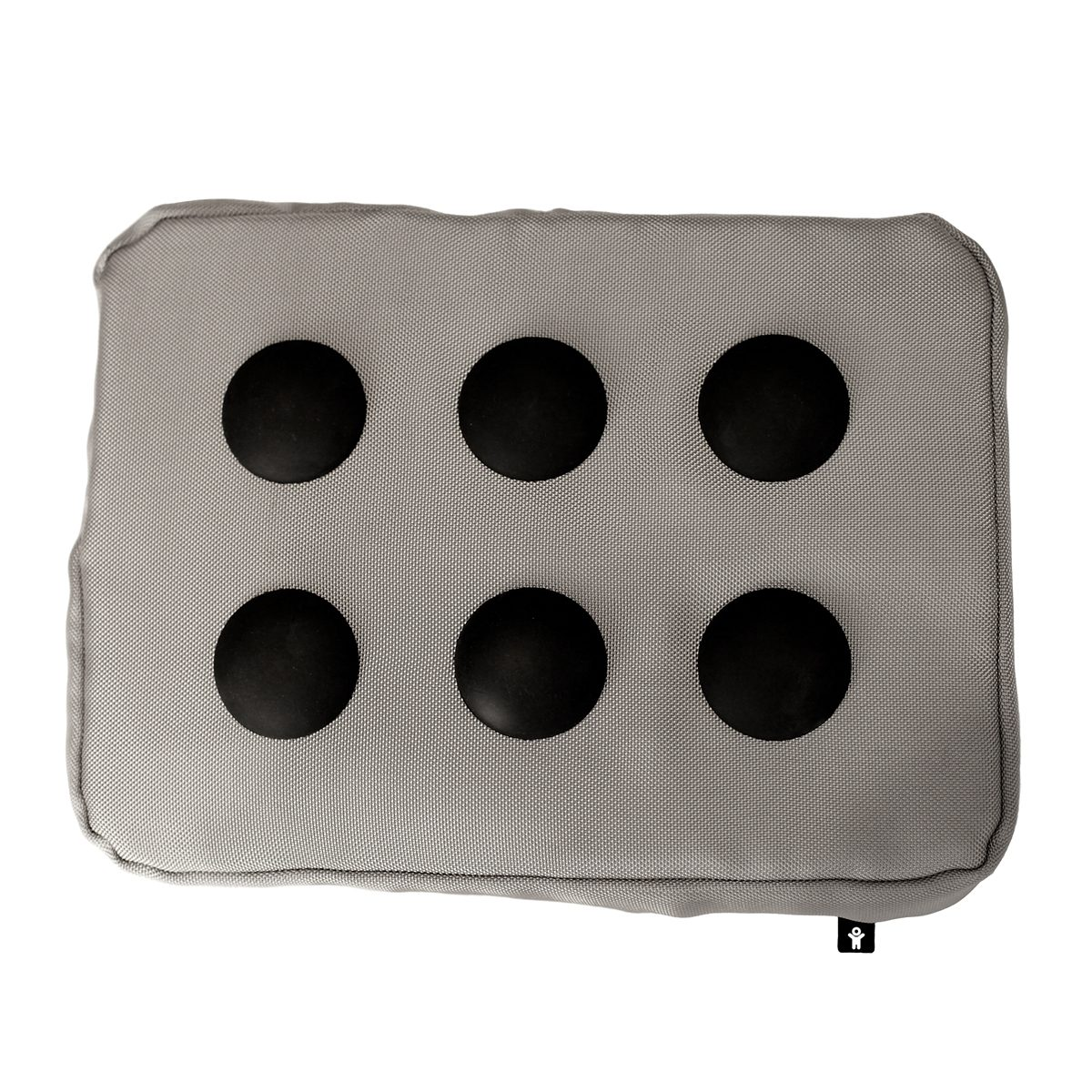 BOSIGN Bosign SURF PILLOW Laptop Kissen silber-schwarz Hitech Polyester