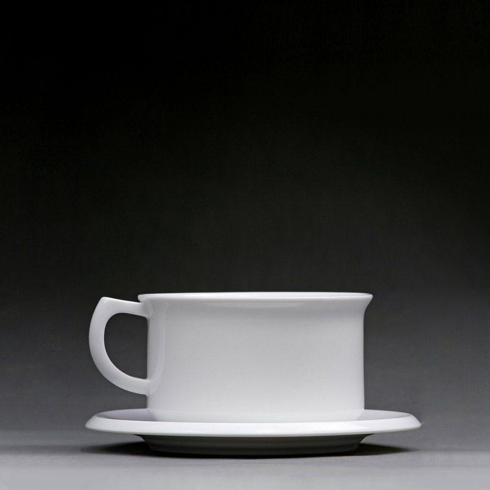 Sowden Sowden Teetasse mit Untertasse OSKAR in weiß