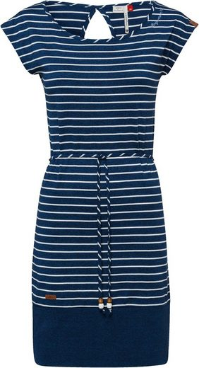 Ragwear Plus Jerseykleid »SOHO STRIPES PLUS« begeistert mit kleinem Cut Out im Nacken
