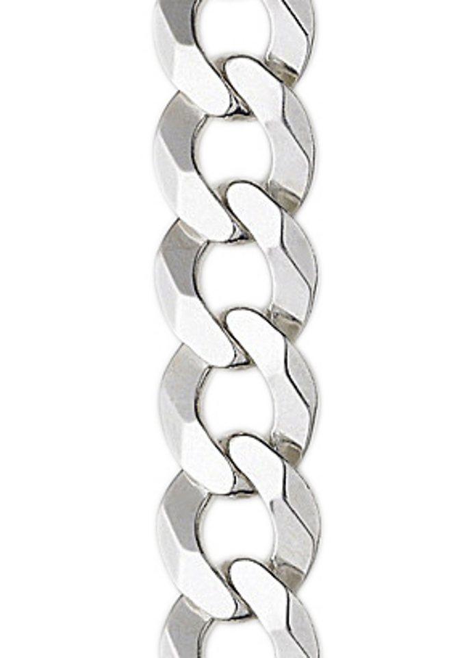 firetti Armschmuck: Armband in Panzerkettengliederung, 6-fach diamantiert in Silber 925
