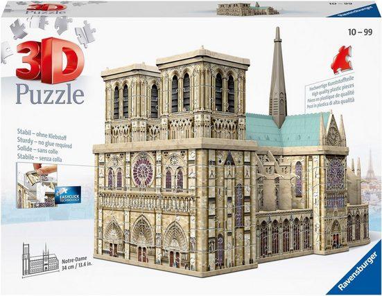 Ravensburger 3D-Puzzle »Notre Dame de Paris«, 324 Puzzleteile, Made in Europe, FSC® - schützt Wald - weltweit