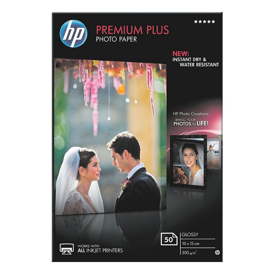 HP Fotopapier »HP premium plus photo paper CR695A«