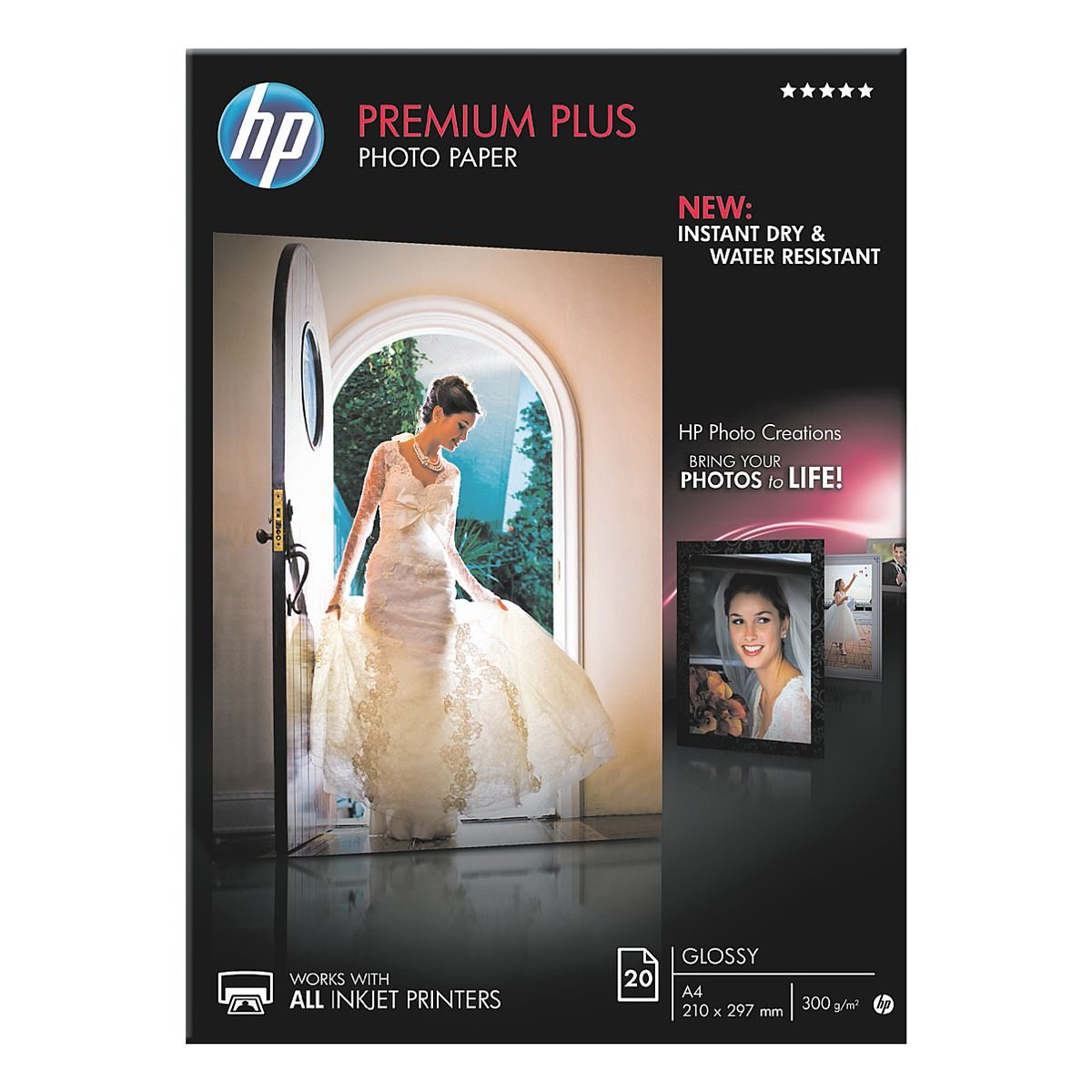 HP Fotopapier »HP premium plus photo paper CR672A«