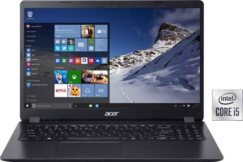 Acer A315-56-58ZH Notebook (39,62 cm/15,6 Zoll, Intel Core i5 1035G1, UHD Graphics, 512 GB SSD, Kostenloses Upgrade auf Windows 11, sobald verfügbar)