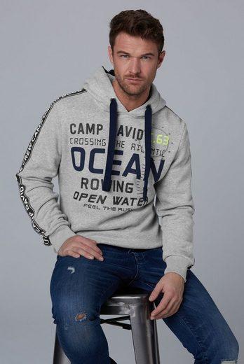 CAMP DAVID Kapuzensweatshirt mit flauschiger Innenseite
