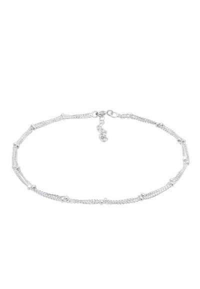 Elli Fußkette »Fußkette mit Kugeln zeitlos 925 Silber«