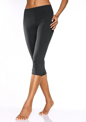 Vivance Basic-Caprileggings (2 Stück) aus softer Stretchqualität