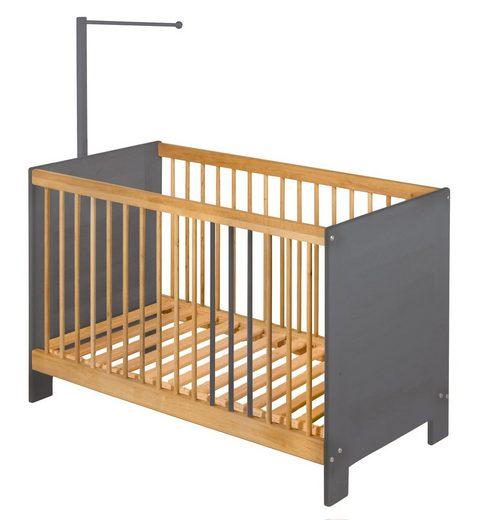 BioKinder - Das gesunde Kinderzimmer Babybett »Niklas«, 60x120 cm mit Himmelstange