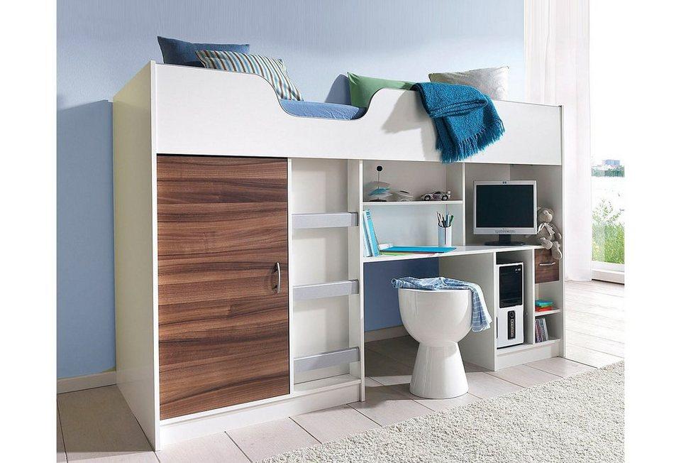 Hochbett mit integriertem Kleiderschrank und Arbeitsplatte online ...