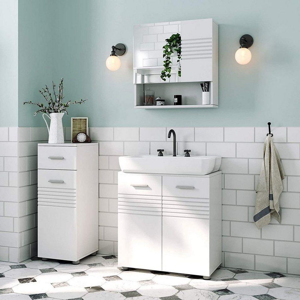 VASAGLE Waschbeckenunterschrank »BBK01WT ...