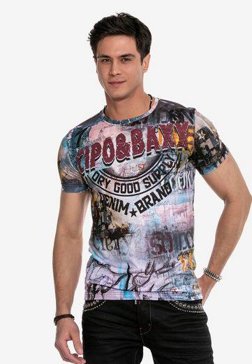 Cipo & Baxx T-Shirt mit trendigem Markenprint