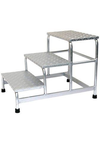 SZ METALL Trittleiter Aluminium 3-stufig