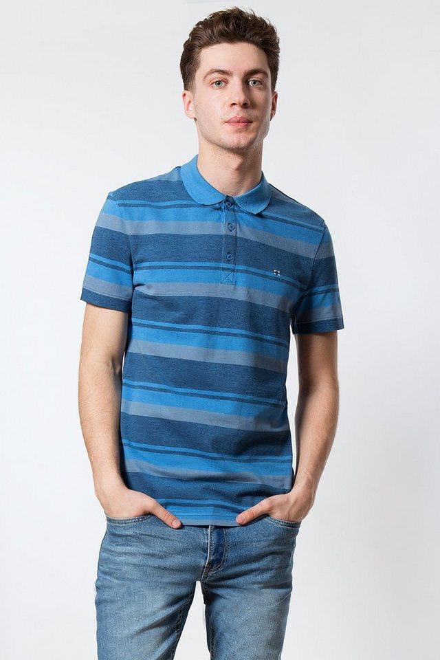 finn flare -  Langarm-Poloshirt im Streifendesign