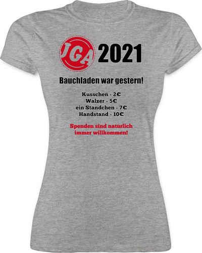 Shirtracer T-Shirt »Bauchladen war gestern! 2021 - JGA Junggesellenabschied Frauen - Damen Premium T-Shirt« Junggesellinnenabschied Damen