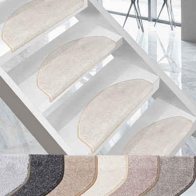 Stufenmatte »Marseille«, Kubus, Halbrund, Höhe 13.5 mm, Edler Velours