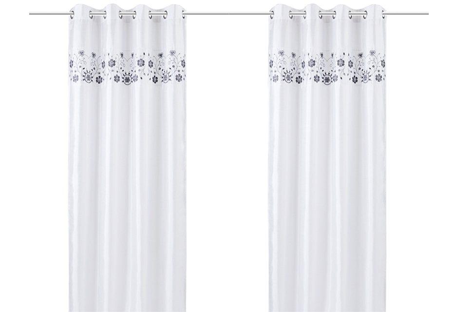 Vorhang, my home, »Chamonix« (2 Stück) in weiß
