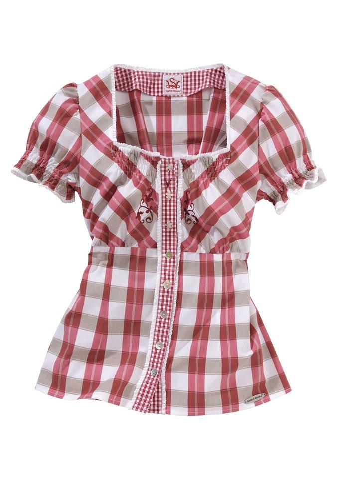 Bluse, Spieth & Wensky in rot-weiß