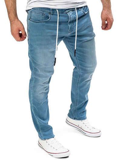 Yazubi Slim-fit-Jeans »Herren Sweathose in Jeansoptik Erik« Schmale Jeans, mit Stretch-Anteil