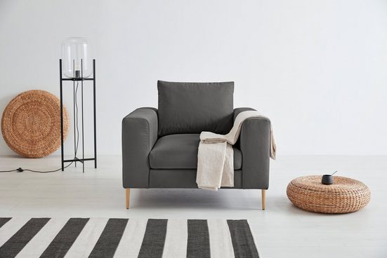 OTTO products Loungesessel »Finnja«, mit Recycling-Bezug