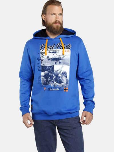 Jan Vanderstorm Kapuzensweatshirt »MELF« Hoodie mit Flieger-Druck