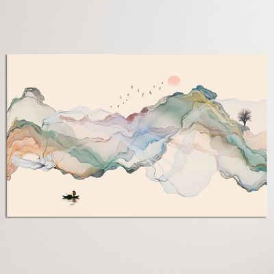 "Dekoli Leinwandbild »""Abstrakte Tintenlandschaft"" - XXL Wandbild«, Leinwandbild geeignet für alle Wohnbereiche"