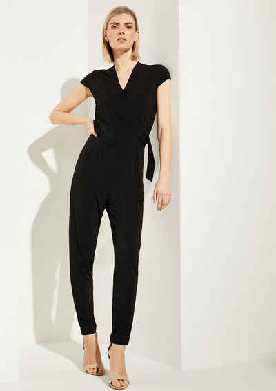 Comma Overall »Jumpsuit mit Wickel-Detail« (1-tlg)