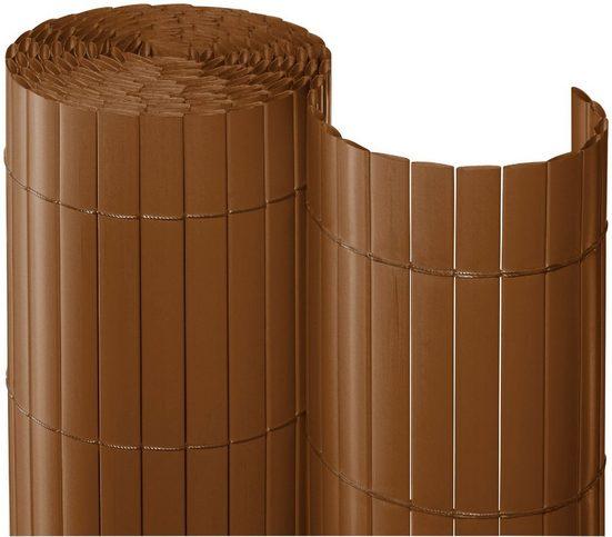 Balkonsichtschutz , BxH: 300x90 cm, braun