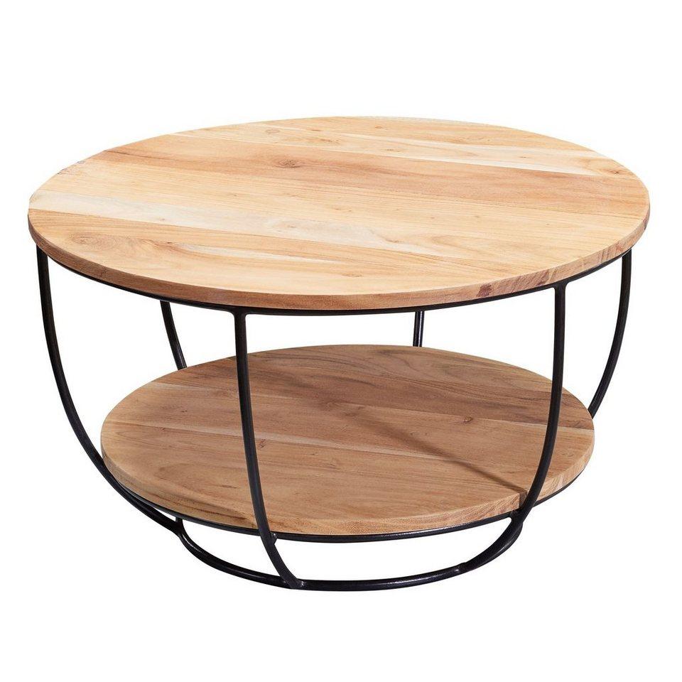 Couchtisch Tisch Beistelltisch Wohnzimmertisch Sofatisch Ablage Eiche//Schwarz