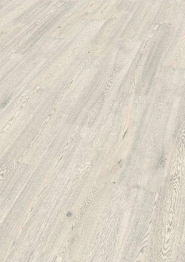 EGGER Korklaminat »HOME Comfort Summersville Eiche weiß«, Packung, ohne Fuge, 1,985 m²/Pkt., Stärke:8 mm