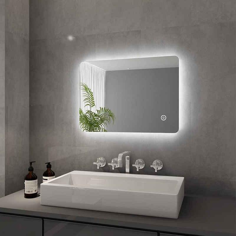 SONNI Badspiegel »Badspiegel mit Beleuchtung 50x70 cm LED Spiegel kaltweiß IP44 mit Touch Schalter«