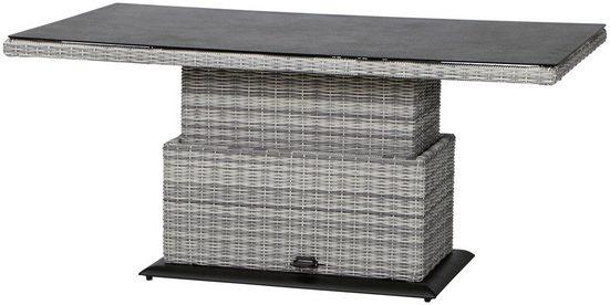SIENA GARDEN Gartentisch »Soria«, Aluminium, stufenlos verstellbar, 160x90 cm