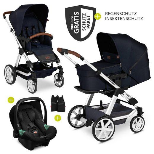 ABC Design Kombi-Kinderwagen »Turbo 4 - Shadow«, (9-tlg), 3in1 Kinderwagen-Set - inkl. Babyschale Tulip & XXL Zubehörpaket