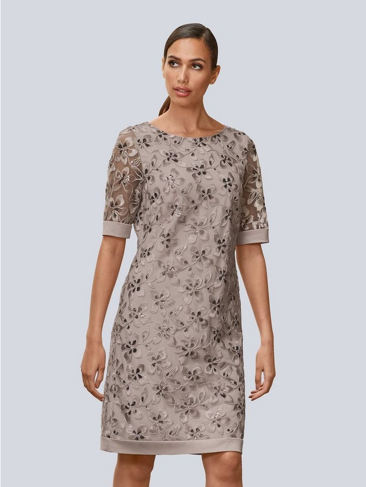 Festtagsmode - Alba Moda Abendkleid mit wunderschönen Blüten bestickt ›  - Onlineshop OTTO