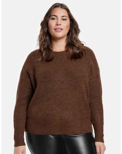 Samoon Rundhalspullover »Pullover aus weichem Rippstrick« (1-tlg) wärmend