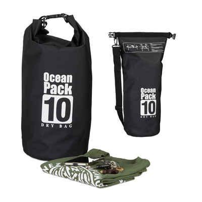 relaxdays Packsack »Ocean Pack 10L wasserdicht«