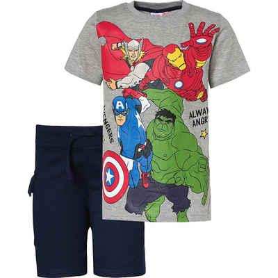 The AVENGERS T-Shirt »Marvel Avengers Set T-Shirt + Shorts für Jungen«