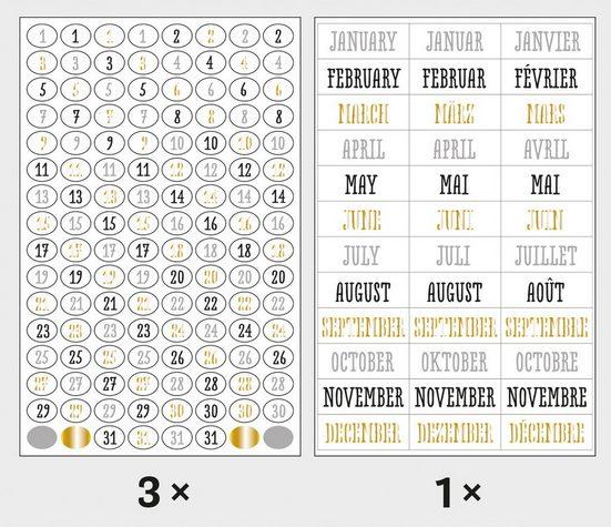 Rayher Sticker »Zahlen und Monate«, 4 Blatt